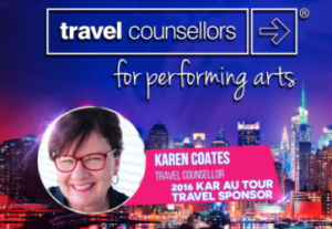 KAR Australia Welcomes Karen Coates with travel counsellors!